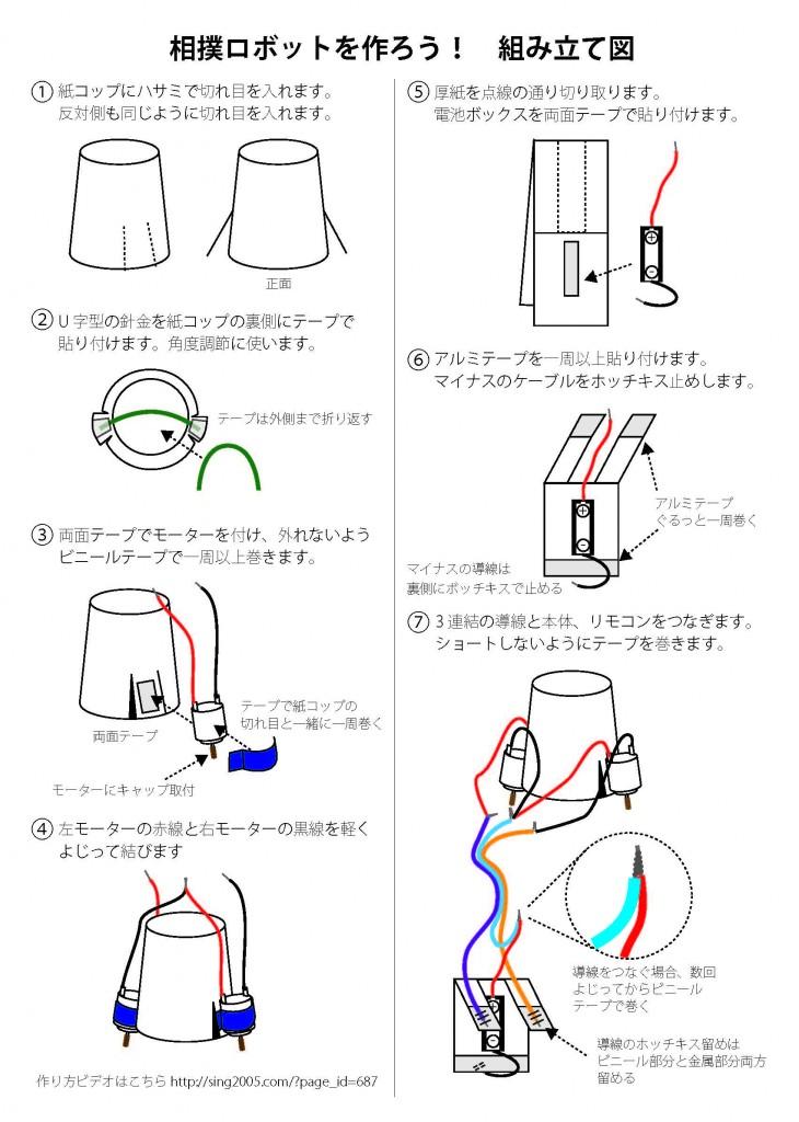 相撲ロボット組立図